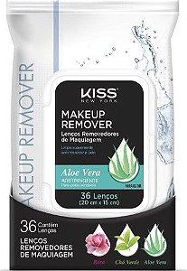 KISS NEW YORK Makeup Remover Lenços Removedores de Maquiagem Aloe Vera Pele Sensível