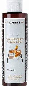KORRES SHAMPOO GIRASSOL E CHÁ DA MONTANHA CABELOS TINGIDOS 250ML