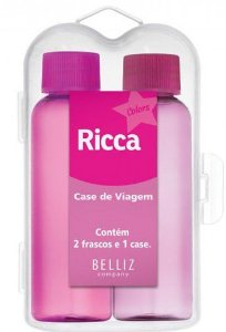 BELLIZ RICCA Case de Viagem Colors c/2 frascos 60ml e 1 case