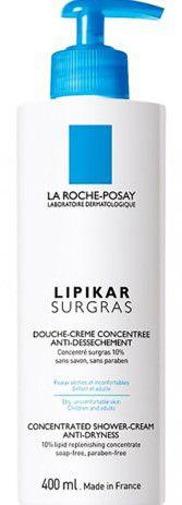 LA ROCHE-POSAY Lipikar Surgras Sabonete Líquido Concentrado Antirressecamento 400ml