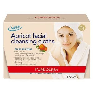 PUREDERM Apricot Facial Cleansing Cloths c/12 unidades