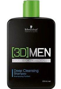 SCHWARZKOPF 3D MEN Shampoo Anti-Oleosidade 250ml