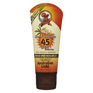 AUSTRALIAN GOLD FPS45 SHEER COVERAGE FACES PLUS GRADUAL SELF TANNER 88ML - PROTETOR SOLAR FACIAL
