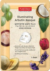 PUREDERM Illuminating Arbutin Masque - Clareadora