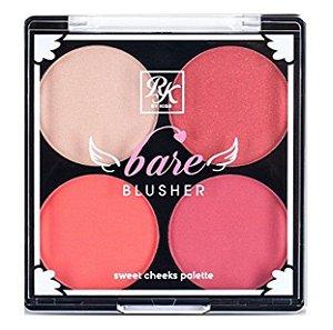 KISS NEW YORK RK Bare Blusher Sweet Cheeks Palette Livin' Bare