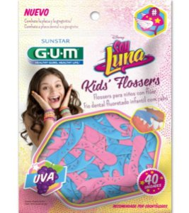 GUM Soy Luna Kid's Flossers c/40 Flúor Sabor Uva