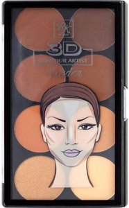 KISS NEW YORK RK 3D Contour Artist Powder Palette Medium Dark