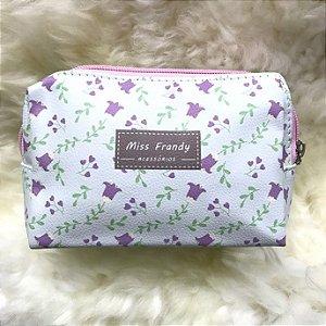 MISS FRANDY Necessaire Pequena Flor Baga-de-Capitão P16 0436