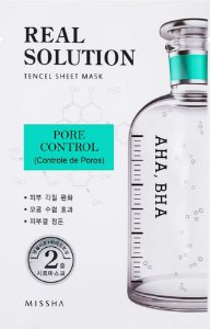 MISSHA Real Solution Tencel Sheet Mask Pore Control - Controle de Poros