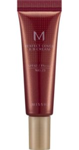 MISSHA Perfect Cover BB Cream N21 Light Beige 10ml - TRAVEL SIZE