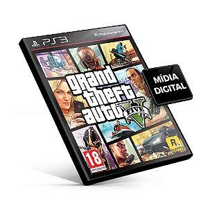 Grand Theft Auto V - GTA 5 PS3  Mídia Digital