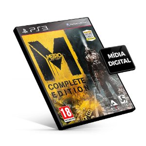Metro Last Light - Complete Edition - PS3 Mídia Digital