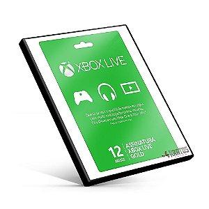 Cartão Microsoft Gift - Xbox - Assinatura 12 Meses - 25 Dígitos