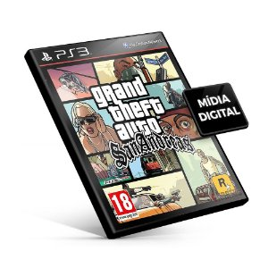 Grand Theft Auto San Andreas - GTA PS3 Mídia Digital