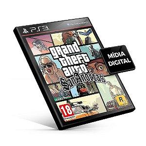 Grand Theft Auto San Andreas - GTA PS3 Mídia Digital