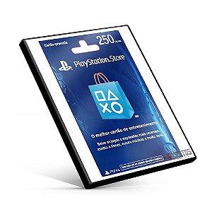 Cartão Playstation Network R$250 Reais
