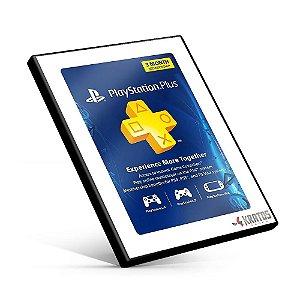 Cartão Playstation Plus 3 Meses Americana