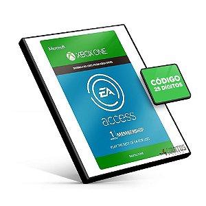 Cartão Microsoft Gift - Xbox - Ea Acess 1 Mês  - 25 Dígitos