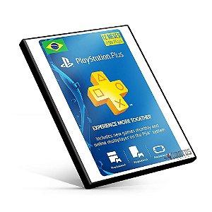 Cartão Playstation Plus 12 Meses Brasil + R$70,00  - Cartão PSN