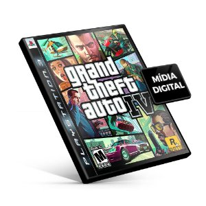 Grand Theft Auto IV - GTA 4 PS3 Mídia Digital