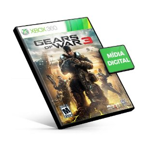 Gears of War 3 - Xbox 360 - Código 25 Dígitos