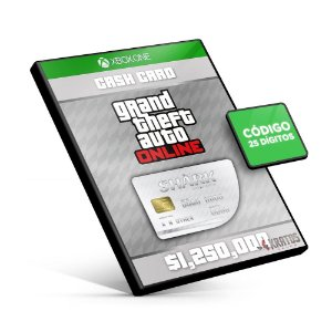 Grand Theft Auto Online: Great White Shark Cash Card 1,250,000$ - Xbox One - Código 25 Dígitos