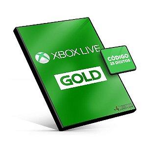 Cartão Microsoft Gift - Xbox - Assinatura Xbox Live Gold - 25 Dígitos