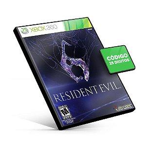 Resident Evil 6 - Xbox 360 - Código 25 Dígitos Americano