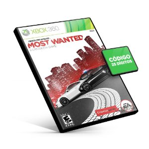 NEED FOR SPEED MOST WANTED - Xbox 360 - Código 25 Dígitos