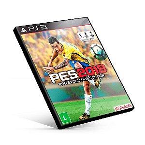PES Pro Evolution Soccer 2018 - PS3 Mídia Digital