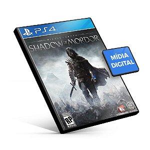 Terra-média Sombras de Mordor - PS4 Mídia Digital