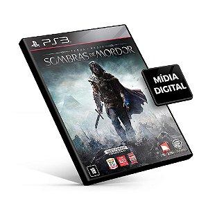Terra Média Sombras de Mordor - PS3 Mídia Digital