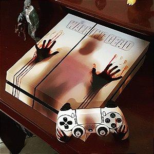 Skin Adesiva para PlayStation 4 - Walking Dead + 2 Adesivos Light Bar