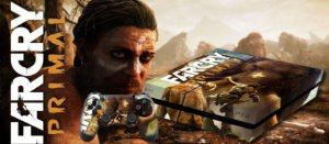 Skin Adesiva para PlayStation 4 - FarCry Primal + 2 Adesivos Light Bar