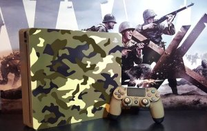 Skin Adesiva para PlayStation 4 - Camulfado + 2 Adesivos Light Bar