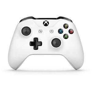 Controle Xbox One S Branco Microsoft Bluetooth P2 Sem Fio