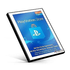 Cartão Playstation Network R$60 reais