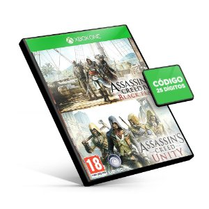 Assassin's Creed Unity + Assassin's Creed IV Black Flag - Xbox One - Código 25 Dígitos