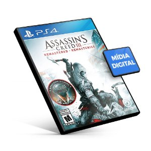 Assassin's Creed III: Remastered - PS4 Mídia Digital