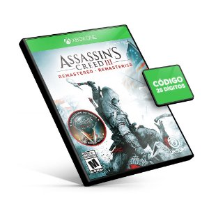 Assassin's Creed® III Remastered Xbox One Código 25 Digitos