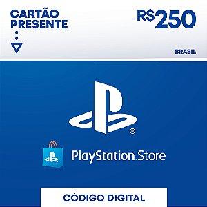 Cartão Presente Playstation Store R$250 REAIS - BRASIL