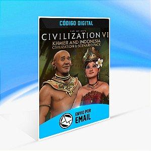 DLC Civilization VI - Civilização Khmer e Indonésia e Pacote de Cenário -  Nintendo Switch Código 16 Dígitos
