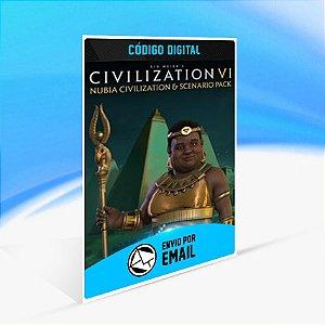 DLC Civilization VI - Civilização Núbia e Pacote de Cenário - Nintendo Switch Código 16 Dígitos
