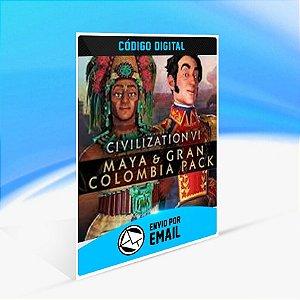 DLC Civilization VI - Pacote Maia e Grande Colômbia - Nintendo Switch Código 16 Dígitos