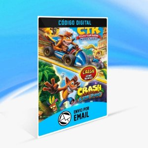 Pacote Crash Bandicoot N. Sane Trilogy + CTR Nitro-Fueled - Xbox One Código 25 Dígitos