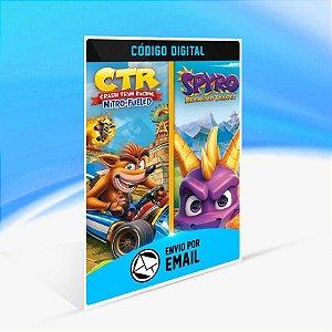 Pacote de Jogos - Crash™ Team Racing Nitro-Fueled + Spyro™ - Xbox One Código 25 Dígitos