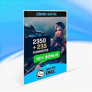Cartão Free Fire - 2.350 Diamantes + 235 de Bônus