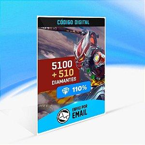 Cartão Free Fire - 5.100 Diamantes + 510 de Bônus