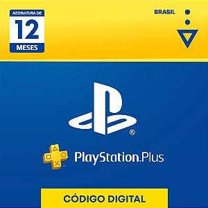 Cartão Digital PS Plus 12 Meses
