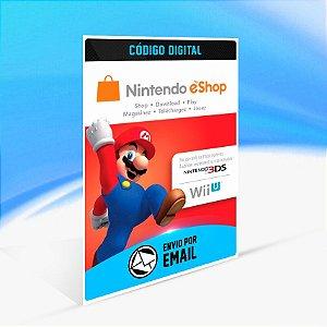 CARTÃO NINTENDO ESHOP SWITCH / WII U / 3DS $50 DÓLARES